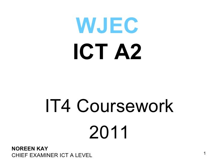 wjec it4 coursework mark scheme